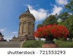 water tower in mannheim  | Shutterstock . vector #721553293