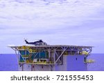 the view of offshore platform... | Shutterstock . vector #721555453