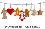 various christmas decorations...   Shutterstock . vector #721555513