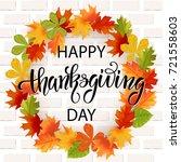 thanksgiving day hand drawn... | Shutterstock .eps vector #721558603