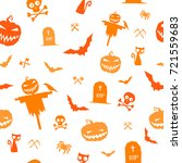 vector pattern for halloween on ... | Shutterstock .eps vector #721559683
