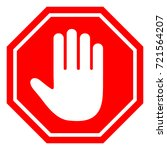 the stop sign is prohibited. | Shutterstock .eps vector #721564207
