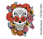 day of the dead vector... | Shutterstock .eps vector #721567483