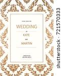 vintage baroque style wedding... | Shutterstock .eps vector #721570333