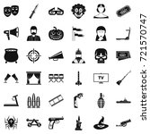 filmstrip icons set. simple... | Shutterstock .eps vector #721570747
