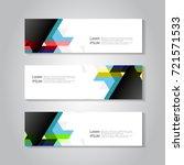 vector header and banner... | Shutterstock .eps vector #721571533