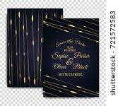 wedding invitation card suite...   Shutterstock .eps vector #721572583