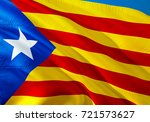 catalonia flag waving in the... | Shutterstock . vector #721573627