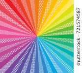 colorful radial background with ... | Shutterstock .eps vector #721574587