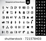 business management and human... | Shutterstock .eps vector #721578403