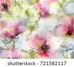 floral background. watercolor... | Shutterstock . vector #721582117