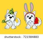 vector illustration of a dog...   Shutterstock .eps vector #721584883