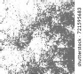 vector halftone black and white.... | Shutterstock .eps vector #721595683