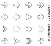 arrow line icon set | Shutterstock . vector #721602067