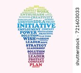 word cloud initiative  creative ... | Shutterstock .eps vector #721603033