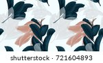 seamless pattern  hand drawn... | Shutterstock .eps vector #721604893