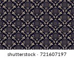 seamless floral ornament on... | Shutterstock .eps vector #721607197