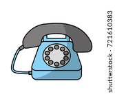 customer service telephone call ... | Shutterstock .eps vector #721610383