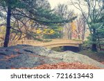 central park at rainy day  new... | Shutterstock . vector #721613443