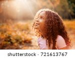 afro american happiness little... | Shutterstock . vector #721613767