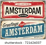 amsterdam vintage signs... | Shutterstock .eps vector #721626037