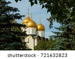 moscow  russia  the golden... | Shutterstock . vector #721632823