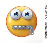 zipped mouth emoji isolated on... | Shutterstock . vector #721634557
