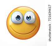 happy emoji isolated on white... | Shutterstock . vector #721634617