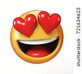falling in love emoji isolated... | Shutterstock . vector #721634623