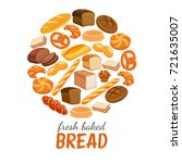 vector illustration bread... | Shutterstock .eps vector #721635007