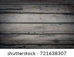 dark horizontal wooden plank... | Shutterstock . vector #721638307