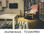 interior concept in storehouse... | Shutterstock . vector #721643983