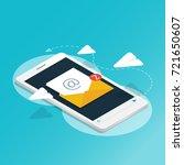 isometric smartphone send...   Shutterstock .eps vector #721650607