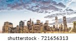 brooklyn bridge and manhattan... | Shutterstock . vector #721656313