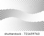 abstract halftone wave dotted... | Shutterstock .eps vector #721659763