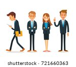 Vector Set Of Business People