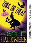 vector poster halloween sale... | Shutterstock .eps vector #721662403