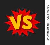 vector illustration of vs as... | Shutterstock .eps vector #721670797