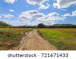 autumn landscape  rural road ... | Shutterstock . vector #721671433