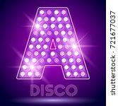 vector chic light up alphabet... | Shutterstock .eps vector #721677037