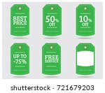 special offer sale tag discount ... | Shutterstock .eps vector #721679203