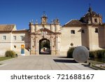 main entrance to monastery of... | Shutterstock . vector #721688167
