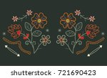 western flower embroidery