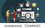seo optimization. people using...   Shutterstock .eps vector #721696537