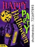design poster for halloween...   Shutterstock .eps vector #721697893