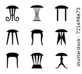 silhouettes of stools isolated... | Shutterstock .eps vector #721698673