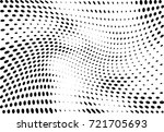 abstract halftone wave dotted... | Shutterstock .eps vector #721705693