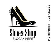 shoes store  shoes shop logo... | Shutterstock .eps vector #721721113