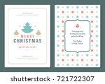 christmas greeting card design... | Shutterstock .eps vector #721722307