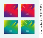 card design template set with... | Shutterstock .eps vector #721725427